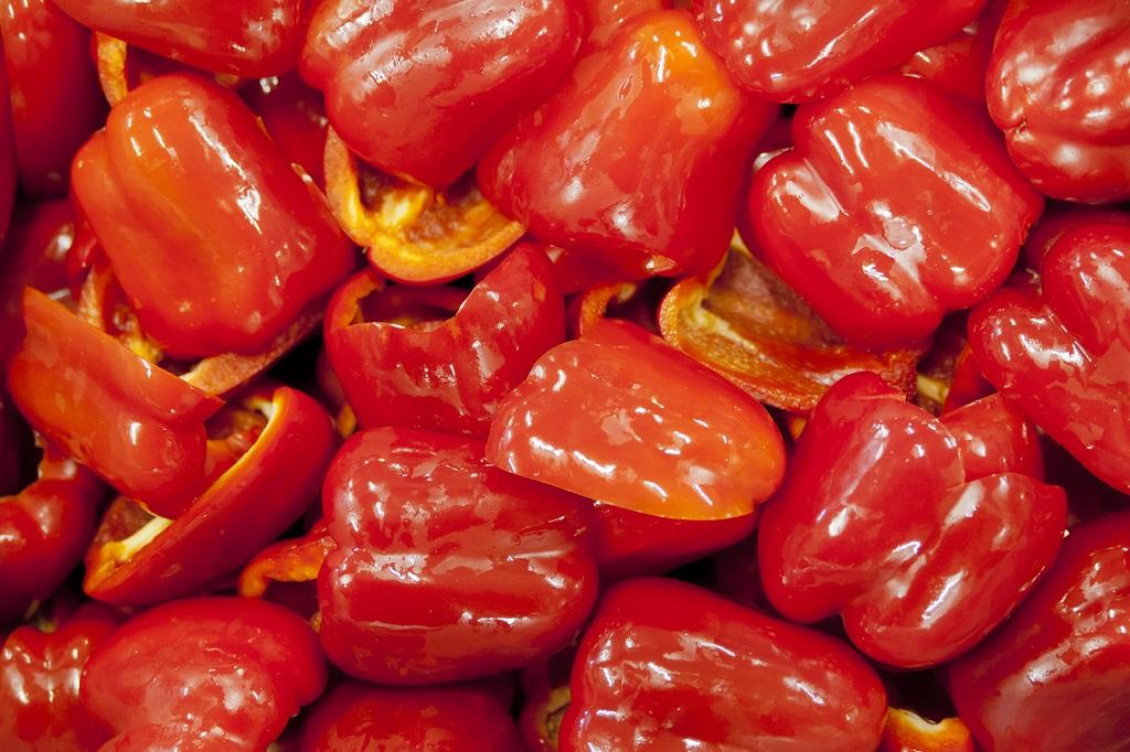 gesneden paprika